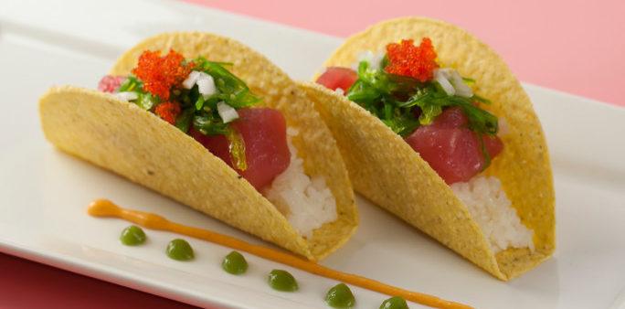Crispy Tuna Poke Taco