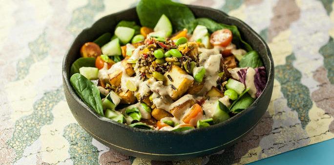 Mixed Green Salad with Tofu