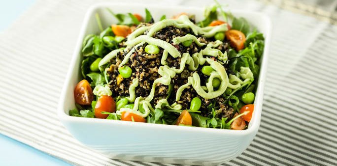 Mixed Green with Hijiki Quinoa Salad