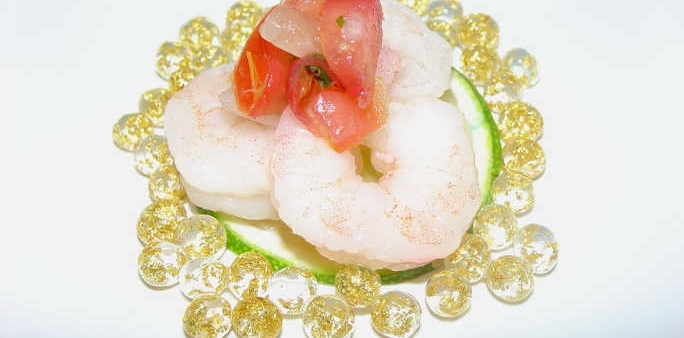 Shrimp Appetizer with Angel Tears