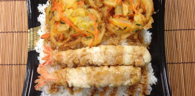 Shrimp and Veggie Tempura Bento Box