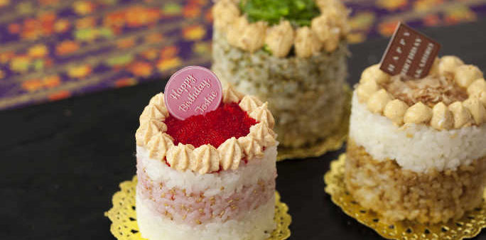 Sushi Cake with Mentai Paste