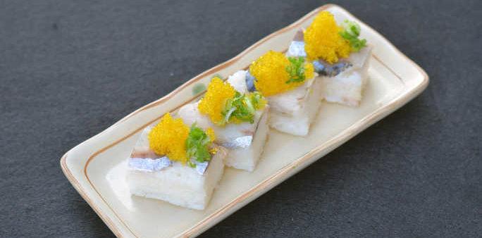 Tobikko Yuzu Oshi Sushi