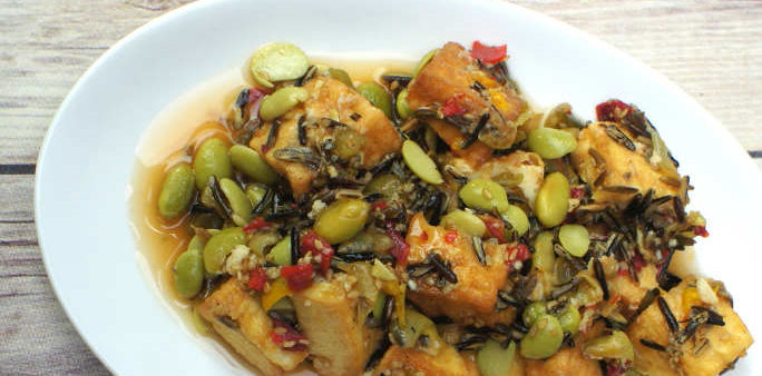 Tofu and Wildrice Salad