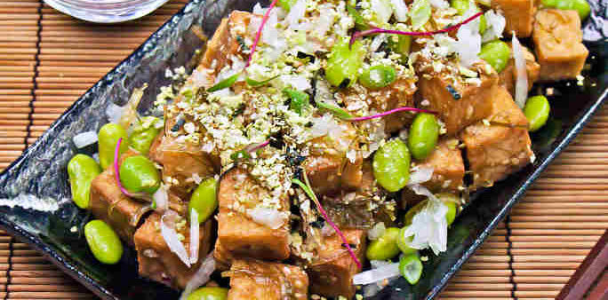 Veggie Poke with Age Tofu